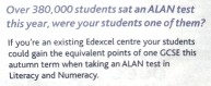 Over 380,000 students sat an ALAN test this year, were your students one of them?